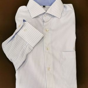 🌷3/$15🌷 Blue/white striped men's dress shirt
